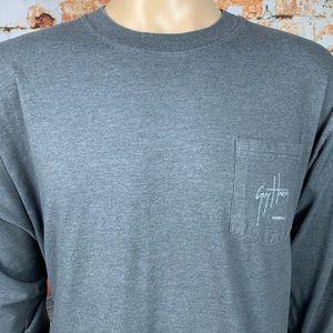 Guy Harvey Original Bluewater T Shirt With Pocket
